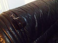 Handfesseln und Leder Leine mit Karabiner  und Ösen zum schrauben in Holz/Wand/Möbel by fsewing Timber Wood, Leather