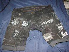 Crust punk shorts.