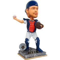 New York Mets Travis d'Arnaud 2015 Springy Logo Base Bobblehead by Forever Collectibles - MLB.com Shop
