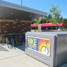 You can bike to many transit centers in Washington, park your bike at a bike rack or store it in a locker, then bus the rest of the way to your chosen destination.