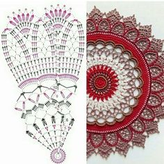 Terrific Absolutely Free Crochet Doilies tablecloth Concepts Although lots of the doilies that you see in stores today are made from paper or machine lace, you c Crochet Dollies, Crochet Diy, Crochet Round, Crochet Squares, Crochet Home, Thread Crochet, Motif Mandala Crochet, Crochet Doily Diagram, Crochet Stitches Patterns