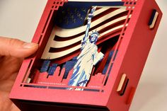 4th July Gift, New York gift Card, paper 3d The Statue of Liberty, Pop Up Card America Gift, United States Gifts, Independence Day Souvenir
