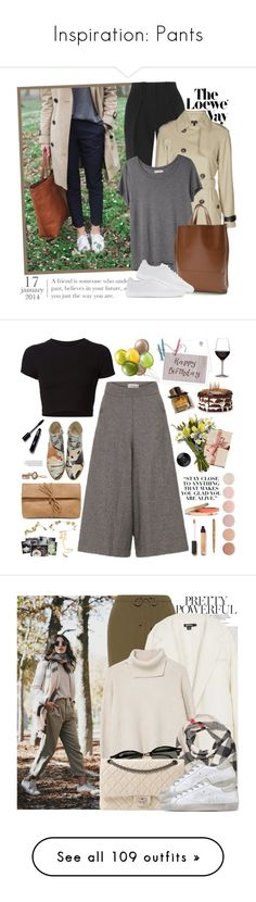 """""""Inspiration: Pants"""" by chocolatepumma ❤ liked on Polyvore featuring Loewe, Proenza Schouler, Topshop, Organic by John Patrick, Louis Vuitton, rag & bone, Getting Back To Square One, Burberry, Voz Collective and LULUS"""