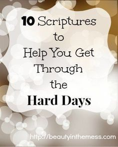 10 Scriptures to Help You Get Through the Hard Days for spiritual inspiration. Bible verses to help you. Hold on tight to faith in God. Bible Scriptures, Bible Quotes, Qoutes, Motivational Scriptures, Healing Scriptures, Bible Prayers, Jesus Quotes, Faith Quotes, Christian Life