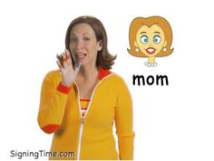 mom - Signing Time Sign Language Book, American Sign Language, Asl Signs, Autism Speaks, Mom And Baby, Youtube, Homeschooling, Toddlers, Communication