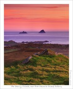 Skelligs View at Sunset, Valentia Island, Kerry, Ireland Copyright: Hauke Steinberg
