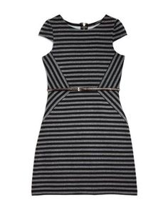 US Angels Girls' Asymmetric Striped Dress - Sizes 7-16 | Bloomingdale's