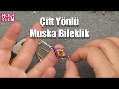 Çift Yönlü Muska Bileklik Yapımı - YouTube