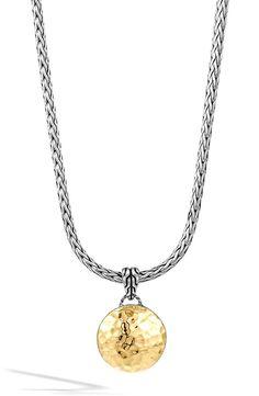 New John Hardy 'Palu' Round Pendant Necklace,Sterling Silver fashion online. [$695]newoffershop win<<