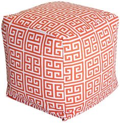 Majestic Home Goods Towers Cube, Small, Orange