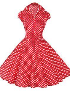 Klänning Rockabilly stil med rosor metallic Hearts Roses