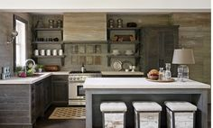 In a small kitchen or pantry, shelves can actually open up the room and make the space appear larger and more spacious. Description from interiorwallsdesigns.com. I searched for this on bing.com/images