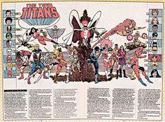 The New Teen Titans by George Perez Comic Book Superheroes, Comic Books Art, Comic Art, Marvel Vs, Marvel Dc Comics, The New Teen Titans, George Perez, Dc Comics Characters, Comics Universe