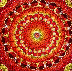 """Dot Painting Bild """"Das Tor zur Lebensfreude"""" - Traumwelle - Lass dich von Farben berühren!"""