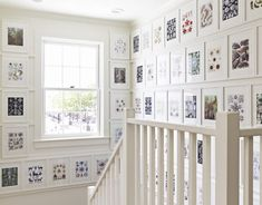 Recycle an art book with beautiful illustrations by framing each page in a stairway.