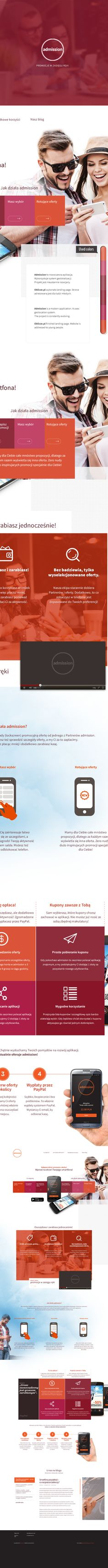 Geolocalization Mobile App landing page on Behance