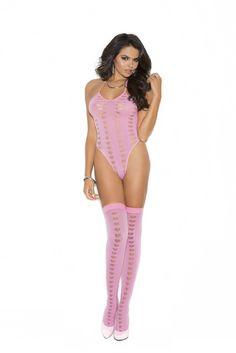 Pink Teddy Bodysuit