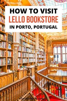 Lello bookstore Portugal, Lello bookstore, Lello library, lello bookstore harry potter, livraria lello bookstore guide. Best Places In Portugal, Hotels Portugal, Traveling With Baby, Travel With Kids, Family Travel, Portugal Vacation, Portugal Travel, Travel Items, Packing Tips For Travel