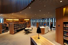 Kerry Hill Architects- City of Perth Library. Tretford Tile in Silver Birch was used on a variety of flooring areas.