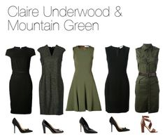 Claire Underwood & Mountain Green by oliviapope411 on Polyvore featuring мода, Fendi, Prabal Gurung, Tory Burch, Dsquared2, Martin Grant, Bally, Dune and Dolce Vita