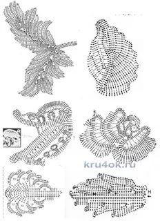 Filet Crochet, Crochet Doily Diagram, Freeform Crochet, Crochet Art, Crochet Stitch, Crochet Leaf Patterns, Crochet Leaves, Crochet Designs, Irish Crochet Tutorial
