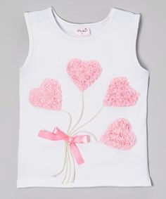 White Heart Balloon Tank - Infant, Toddler & Girls by Wenchoice #zulily #zulilyfinds