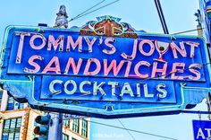 Vintage Tommy's Joynt Sign The Tenderloin, San Francisco By Mitchell Funk mitchellfunk.com