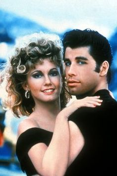 Sandy Olsen & Danny Zuko The Movie: Grease The Actors: Olivia Newton John & John Travolta Olivia Newton John Grease, John Newton, Danny Zuko, John Travolta, Grease 1978, Grease Movie, Musical Grease, Film Musical, Romantic Movies