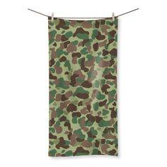American Marine WWII Jungle CAMO Beach Towel