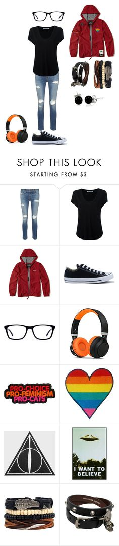 """Michael Mell (Be More Chill)"" by mattxnear ❤ liked on Polyvore featuring rag & bone/JEAN, Alexander Wang, Hollister Co., Converse, Alexander McQueen and Bling Jewelry"