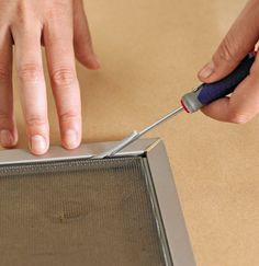 Replace a window screen