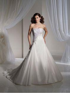 Taffeta Softly Curved Neckline Asymmetric Draped Bodice A-line Wedding Dress