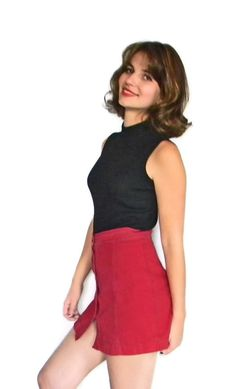 Vintage Dark Red Skirt. Ruby DKNY Jeans Mini by ChickClassique, $28.00