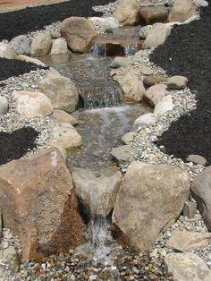56 backyard ponds and water garden landscaping ideas - Garten Design Backyard Water Feature, Ponds Backyard, Garden Pool, Backyard Waterfalls, Garden Trees, Backyard Stream, Koi Ponds, Terrace Garden, Backyard Ideas