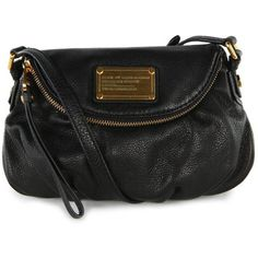 Marc By Marc Jacobs Women's Classic Q Natasha Black Leather Shoulder... found on Polyvore