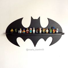 Wooden shelf Batman 24 in x 13 in by Purplepollen on Etsy