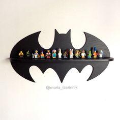 Wooden shelf Batman 24 in x 13 in by Purplepollen on Etsy