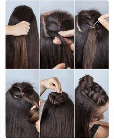 Easy how to braid with mini topknot