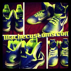 "info for 6f688 0c3ba Nike LeBron 9 ""Sprite Nights"" Custom by Mache"