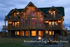 Rustic Luxury Log Homes! I love the lodge look:)