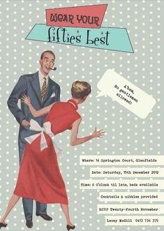 1950s themed Birthday Invitation