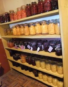 Another well organized wall of preserves