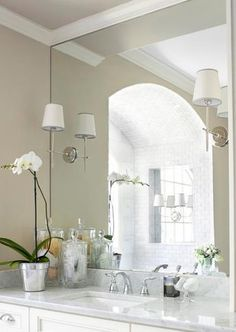 #bathroom lighting #elegant bathroom