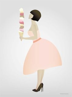 Vissevasse ice cream lady poster