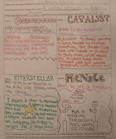 """6th grader--Hannah--gave my eighth graders a """"run for their money"""" with this wonderful collection of words from the Ralph Fletcher books we are reading.  Nice work, Hannah...you earned a Vocabulary Collector award during a week the 8th graders were trying to outshine everyone.  Check out my new vocabulary resource page: http://corbettharrison.com/Vocabulary.htm"""