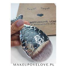 Srebrny pędzelek Mermaid #mermaid #makeupovelove #pędzel #makeupbrushes