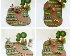 Woodland Animal Tree House Cottage Tree Stump by MyBigWorld2015