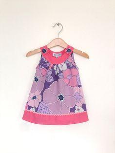 Baby girl clothes, retro purple girls dress, newborn girls clothes, baby dress, hippie baby clothes on Etsy, $45.95
