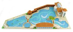 3D Printed Swimming Pool Model. Source: WhiteClouds
