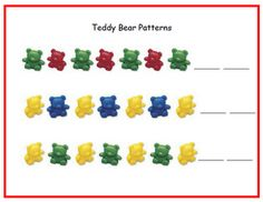 teddy bear counter's- pattern printables- more on this site (measurement…